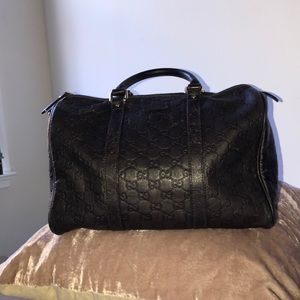 Authentic Brown Gucci Joy Boston Bag Med.